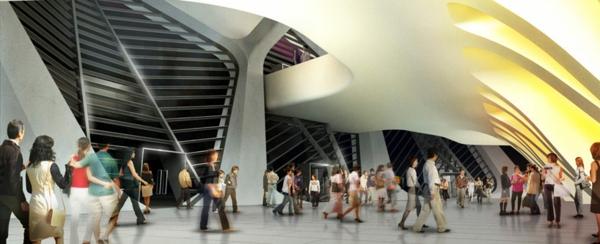 ultra moderne und innovative architektur die haupthalle