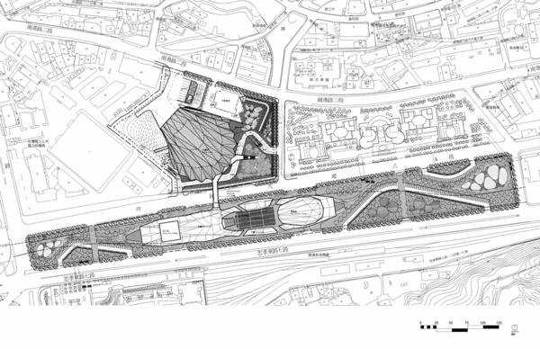 ultra moderne und innovative architektur lageplan