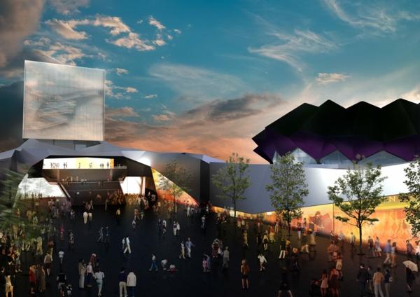 ultra moderne und innovative architektur mit blick auf die ruhmeshalle