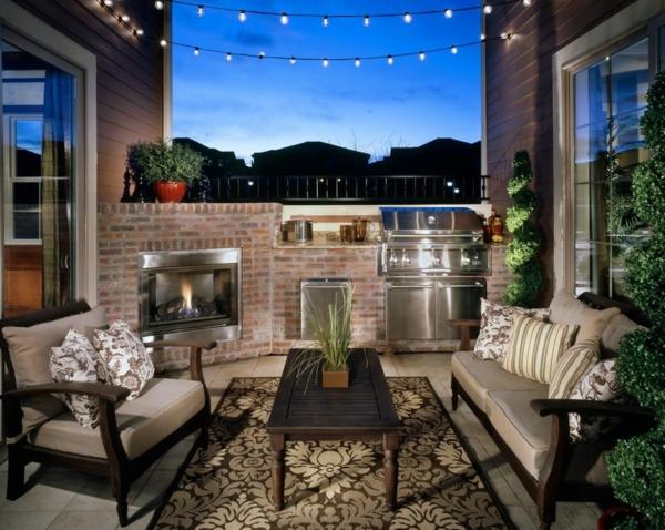 urbanen dachboden einrichtungsstil lichterkette romatisch außenbereich