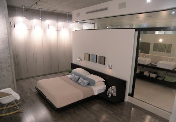 Dachboden Einrichtungsstil Schlafzimmer Wand Weiß Bett