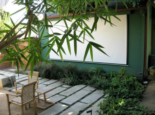 veranda party im sommer heng shui hauch bambus