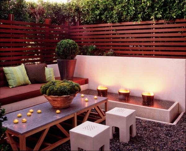 veranda party im sommer minimalistische romantik viele teelichter