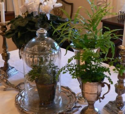 Vintage silber dekoration zu hause ein charme aus der for Dekoration wohnung weihnachten