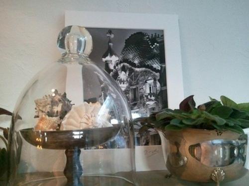 vintage silber dekoration zu hause eklektisch stil glas deckel