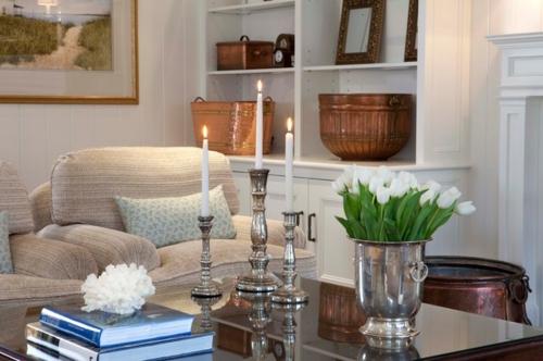 wohnzimmer weis silber | wohnzimmer ideen - Wohnzimmer Deko Vintage