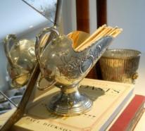 Vintage Silber Dekoration zu Hause – Verleihen Sie der Wohnung einen Charme aus der alten Welt