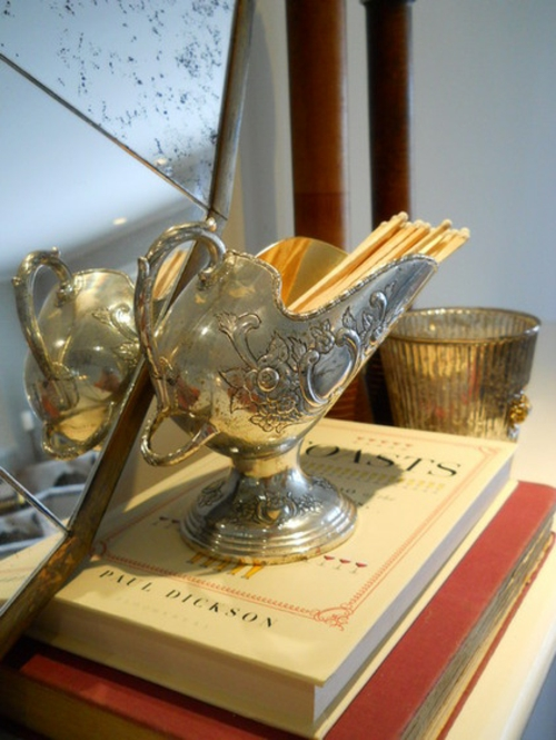 vintage silber dekoration zu hause eklektisch stil originell design