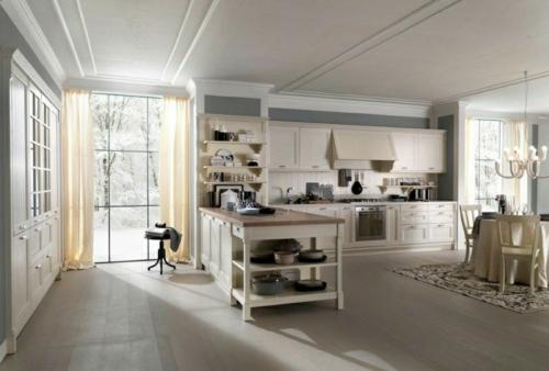 vintage stil küche bäckerei design weiß einrichtung