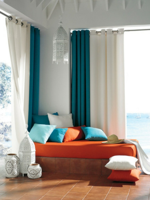 vorh nge und gardinen f r den au enbereich outdoor design ideen. Black Bedroom Furniture Sets. Home Design Ideas