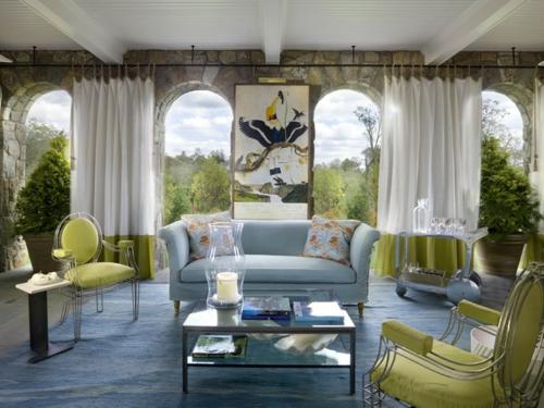 vorhänge und gardinen für den außenbereich sofa blau grün stuhl