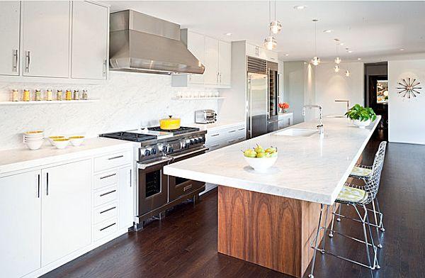 Küche Mit Insel Tisch U2013 Massdents, Esstisch Ideennn