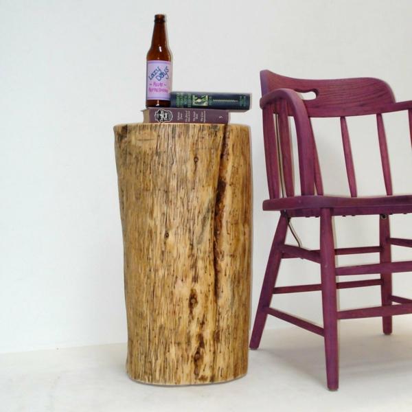 Recycelten Stumpf im Interior Design und Dekoration beistelltisch kompakt stuhl
