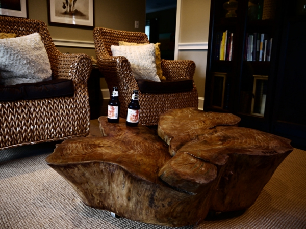 Recycelten Stumpf im Interior Design und Dekoration sessel rattan verflochten