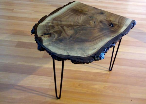 Recycelten Stumpf im Interior Design und Dekoration tisch platte beine