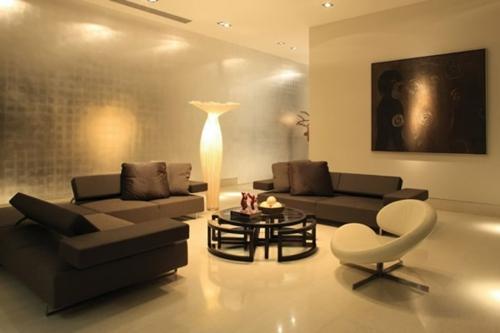 Wohnzimmer Design Originell Idee Tisch Sofa Sessel Bild