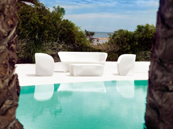 ästhetische möbel sammlung außenbereich pool weiß sitzplatz