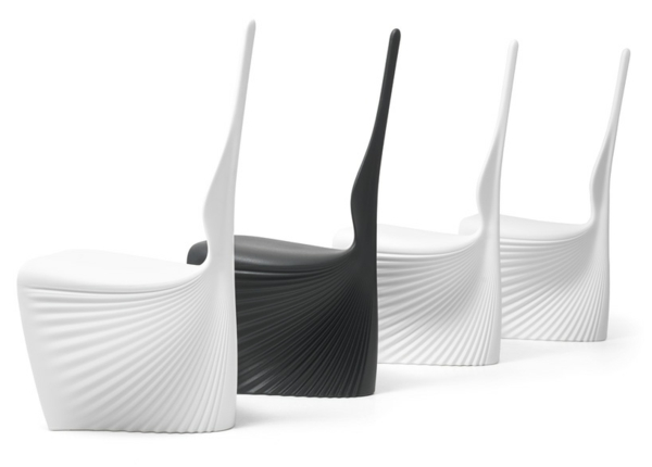ästhetische möbel sammlung biophilia design sstühle schwarz weiß