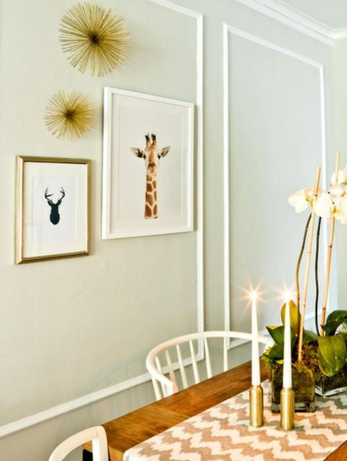 Altes Haus mit schönem Interior Design dekoration wand bilderrahmen
