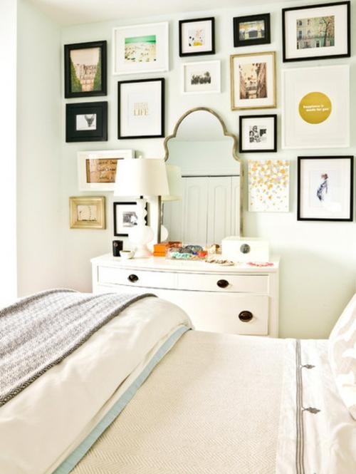 Altes Haus mit schönem Interior Design doppelbett weiß einrichtung bilder