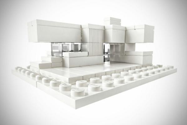 Architektur Studio Set von LEGO spiel konstruktion weiß oberflächen