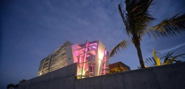 Avantgardistisches Haus design außenbereich exotisch design