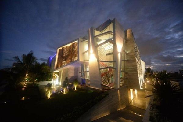 Avantgardistisches Haus Projekt beleuchtung originell architektur