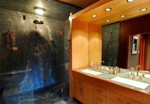 Badezimmer Designs im asiatischen Stil eingebaut beleuchtung spiegel