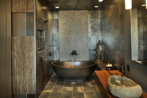 Schön Badezimmer Designs Im Asiatischen Stil Fliesen Badewanne Dusche