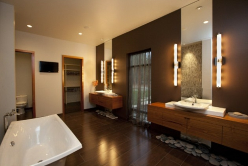 30 badezimmer designs im asiatischen stil eingerichtet for Asian style bathroom designs