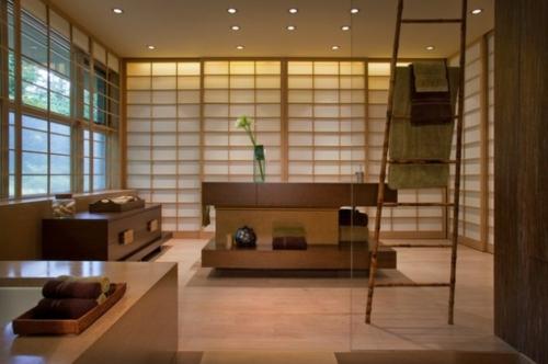 Badezimmer-Designs-im-asiatischen-Stil-holz-möbel