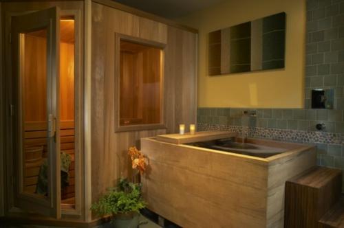 Badezimmer-Designs-im-asiatischen-Stil-holz-spiegel-fenster-trennwand