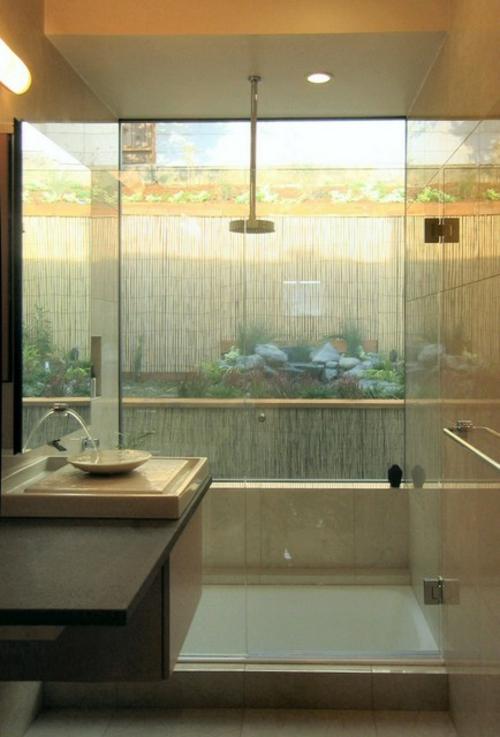 Badezimmer-Designs-im-asiatischen-Stil-sichtschutz-glas-umgebung-natur