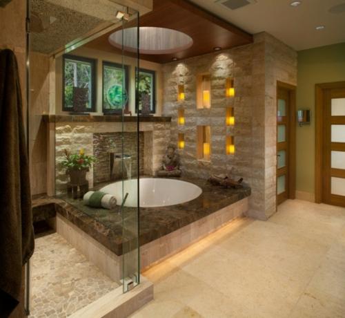 Badezimmer Designs im asiatischen duschkabine glas wände