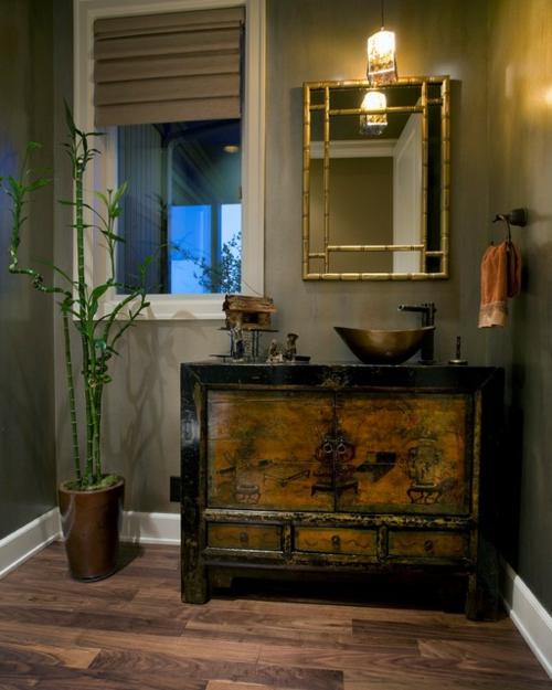 Badezimmer Designs im asiatischen orient akzente bambus