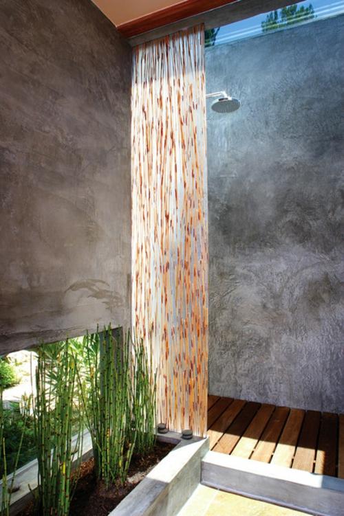 Badezimmer Designs im asiatischen orient platten holz bambus