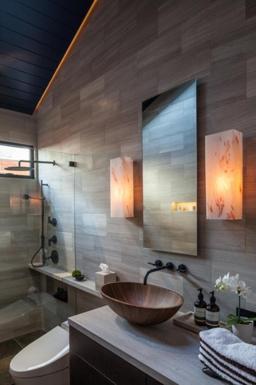 Badezimmer Designs im asiatischen orient spiegel waschbecken