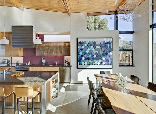 Beleuchtung für die Küche eklektisch texturen farben modern tageslicht