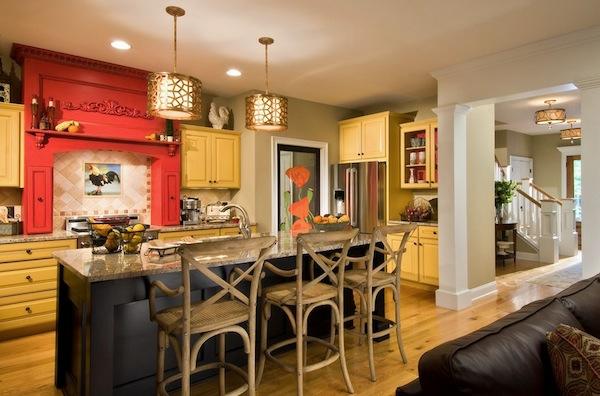 Beleuchtung für die Küche eklektisch texturen farben