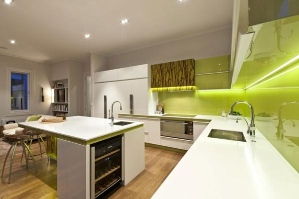 Beleuchtung Für Die Küche Grün Küchenspiegl Glanzvoll Licht