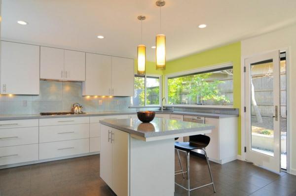 Beleuchtung für die Küche hängelampen arbeitsplatte  oberschränke