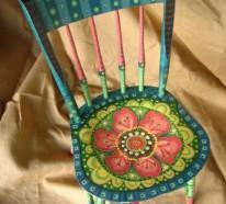 Bemalte Stühle bunt bemalte möbel zum selbermachen für mehr farbe zu hause