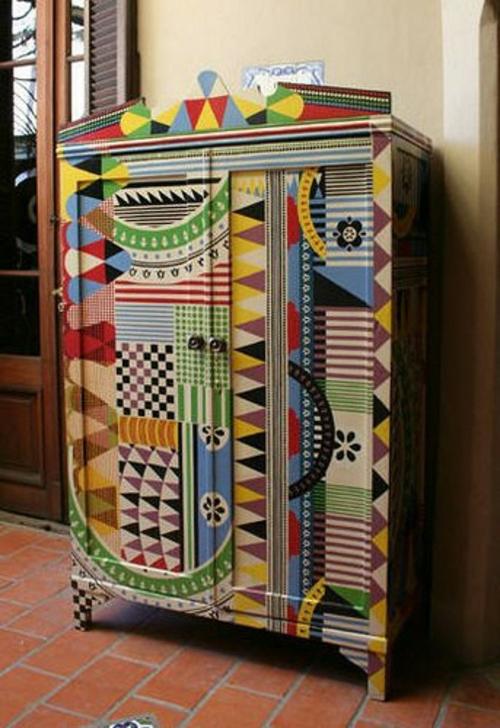 Schrank Bemalen Ideen Bunt Bemalte Möbel Zum Selbermachen Für Mehr Farbe Zu  Hause