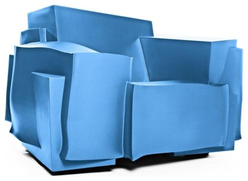 Coole Gartenmöbel für die Terrasse liege hoch qualität blau konstruktion