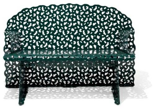 Coole Gartenmöbel für die Terrasse massiv couch tisch metall