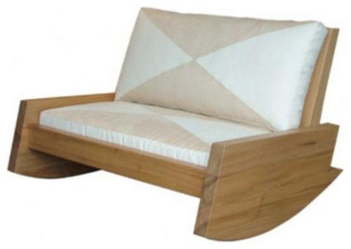 Coole Gartenmöbel für die Terrasse massiv holz sofa auflage gemustert
