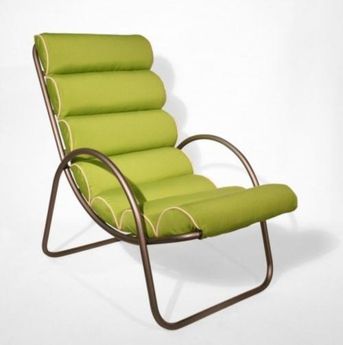Coole Gartenmöbel für die Terrasse metall konstruktion grün auflage