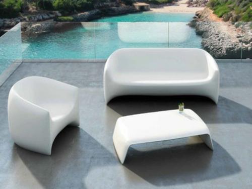 Coole Gartenmöbel Für Die Terrasse Modern Innovativ Designs Weiß