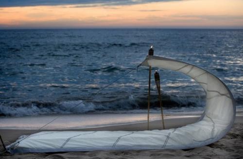 Coole Gartenmöbel für die Terrasse strand romantische atmosphäre