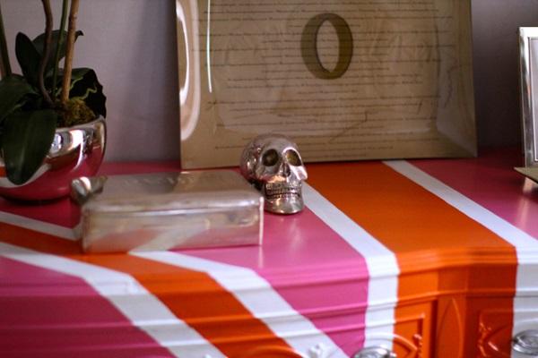 DIY dekorative Projekte kommode akzente bemalt